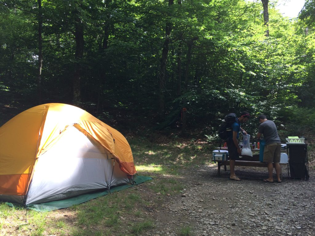 Setting up camp, Pittsfield State Park